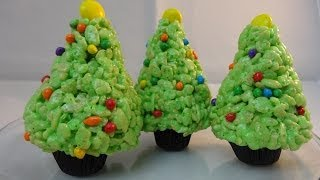 Rice Krispies Cereal Treat Christmas Trees- with yoyomax12