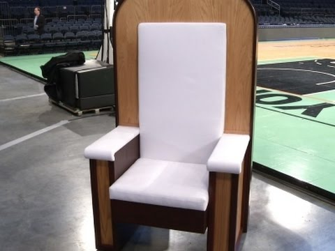 Pope Francis' Chair for NYC Mass Unveiled