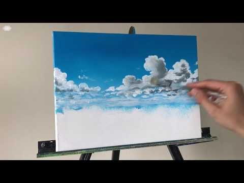ColorbyFeliks: Step by Step Cloud Acrylic Painting Tutorial