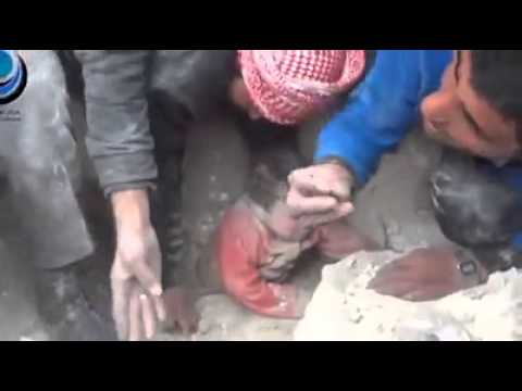 Israel  Bombed A House In Gaza Buried A Baby Alive