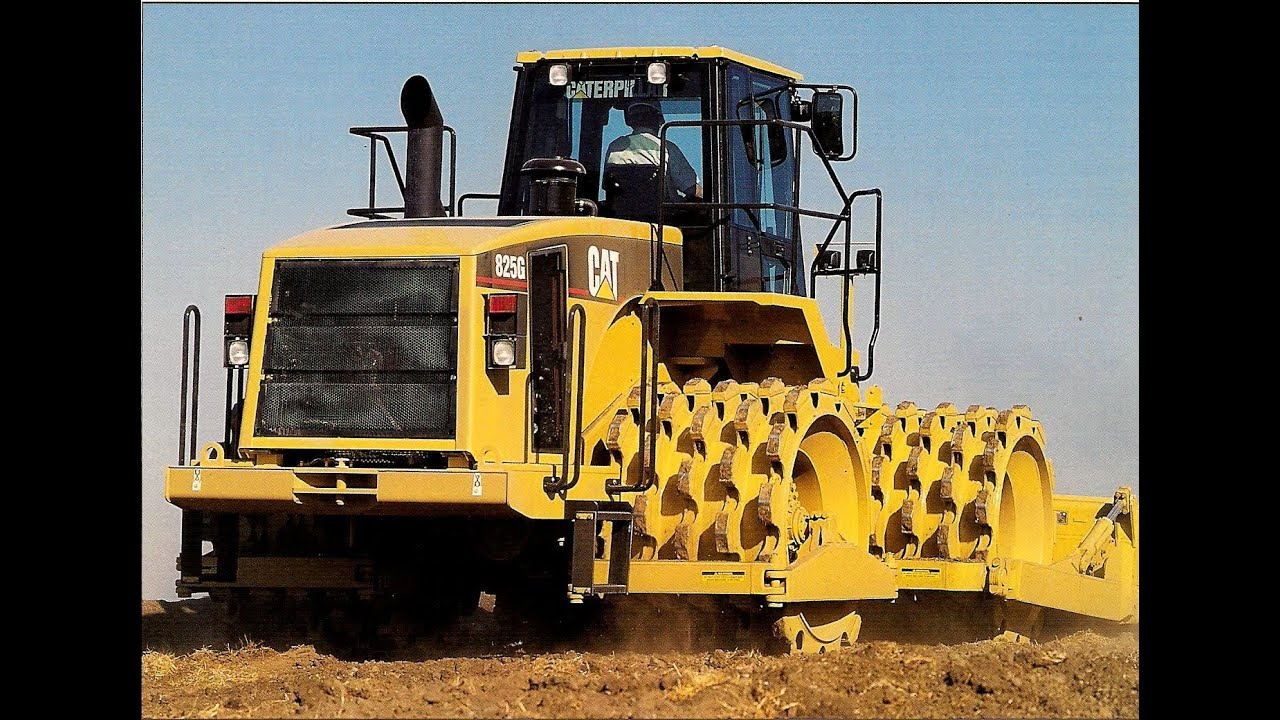Cat 825g Soil Compactor Youtube