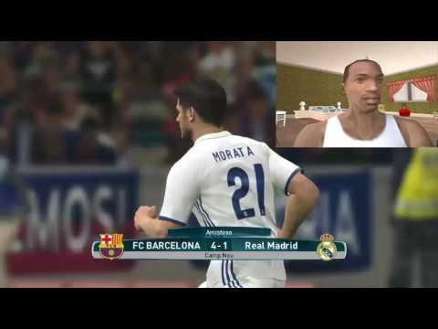 CJ juega PES2017 + UN CLÁSICO(REAL MADRID VS BARCA)