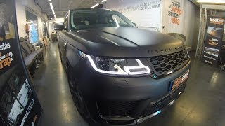 Tremendo Range Rover Sport en Negro Mate - Car Wrapping by Pronto Rotulo