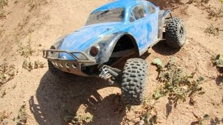 Remote Controlled Slug Jumping in Slugmotion - Traxxas Slash 4X4 / Baja Bug