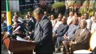 GABON. Jean PING, Discours historique après la prestation de serment de Ali Bongo