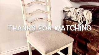 How to distress white wash wood furniture chairs tutorial