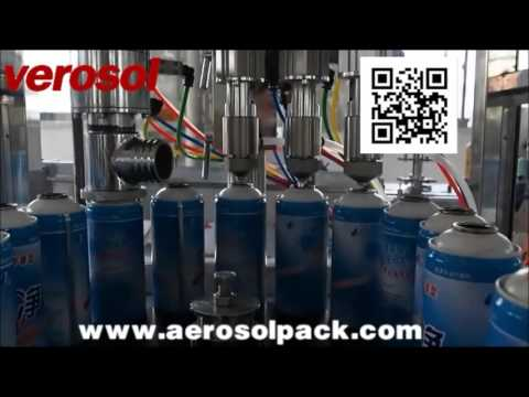 Spray Paint Automatic Aerosol Filling Machine for Ghana client