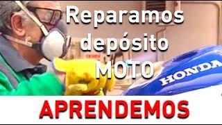 Reparación de depósitos metálicos de motocicletas