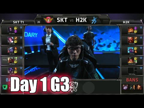 SK Telecom T1 vs H2K Gaming | Day 1 Game 3 Group C LoL S5 World Championship 2015 | SKT vs H2K D1G3