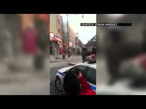 Raw: Moments After NYC Building Explosion