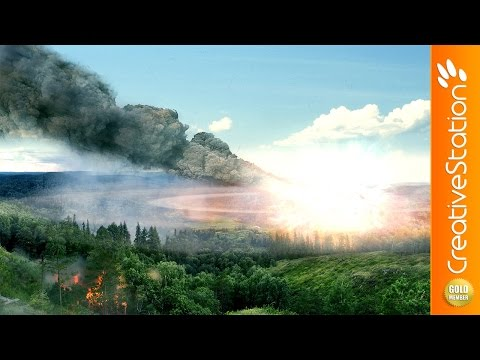 Tunguska meteor - Speed art (#Photoshop) | CreativeStation GM