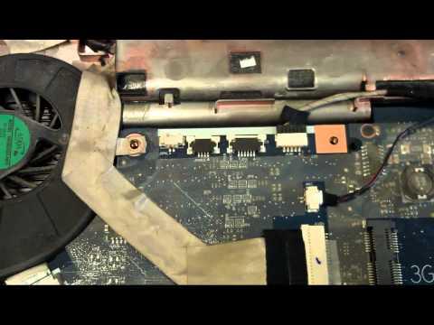 Czyszczenie laptopa TOSHIBA SATELLITE A350-110 LAPTOP CLEANING fan tutorial
