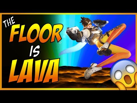 THE FLOOR IS LAVA FRANCE ! Overwatch