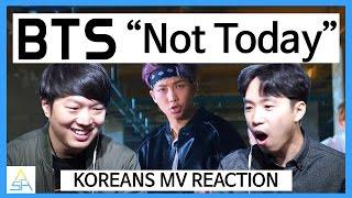 "Download Lagu Koreans React to KPOP : BTS ""Not Today"" [ASHanguk] Gratis STAFABAND"