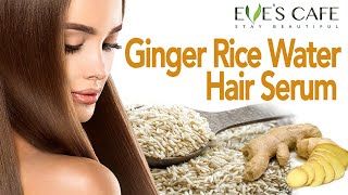 DIY Ginger Hair Serum for Extreme Hair growth | Rice Water to Promote Hair Growth