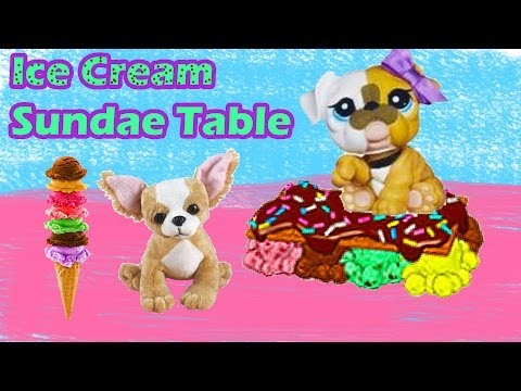 Ice Cream Sundae Table DIY Webkinz Littlest Pet Shop LPS My Little Pony Craft klip izle