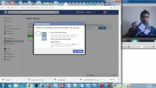 How to add mobile number to your facebook account?