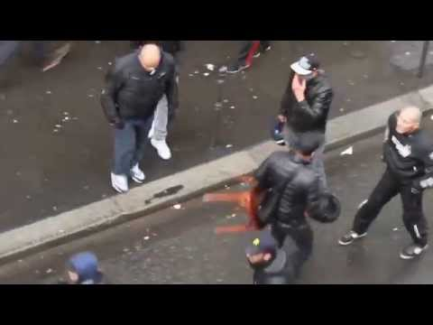 Israeli Vigilantes Attacking Pro-Palestinian Protesters in Paris [Full Video]