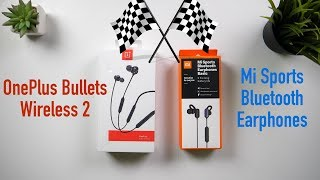 OnePlus Bullets Wireless 2 vs Mi Sports Earphones | Comparison | Sound Quality | PUBG Gaming [Hindi]