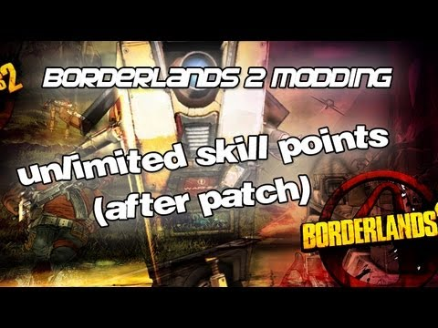 Borderlands 2 How To Mod Skill Points After Patch PS3