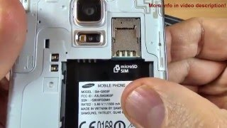 Samsung Galaxy S5 Neo - How to Insert SIM Card and micro SD Card