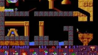 Lemmings 2 (PC) classic lvl 9 (3 solutions)