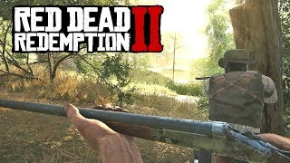 RED DEAD REDEMPTION 2 TRAINING ON PC!? Western Survival PC GAME! (Hunt: Showdown)