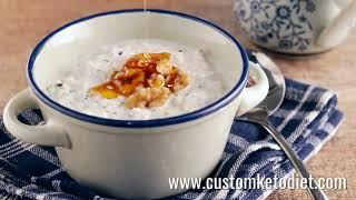 Keto Maple and Walnut Hemp Heart Porridge - Healthy Porridge Recipes