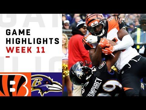 Bengals vs. Ravens Week 11 Highlights   NFL 2018