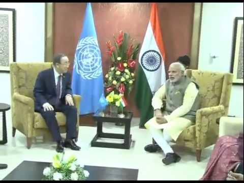 PM Modi meets UN chief Ban Ki-moon