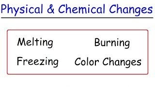 Physical and Chemical Changes Explained, Examples, Chemistry Video