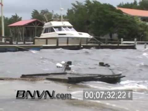 6/13/2006 Tropical Storm Alberto Video From Steinhatchee Florida -Surge Camera