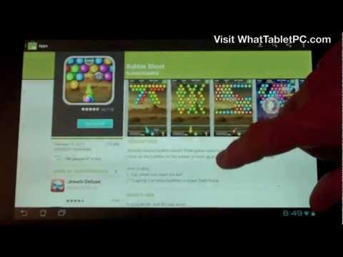 How To Use Android Market On A Tablet To Download Apps. Games. Books & Movies - Tutorial For Android