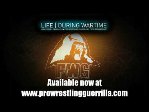 PWG Life During Wartime: World Championship Steel Cage Guerrilla Warfare Match