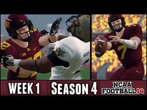 NCAA Football 14 Dynasty: Week 1 vs Army - Season Opener - (Season 4)