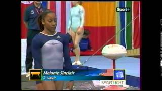 Melanie SINCLAIR (USA) vault - 2004 Cottbus EF