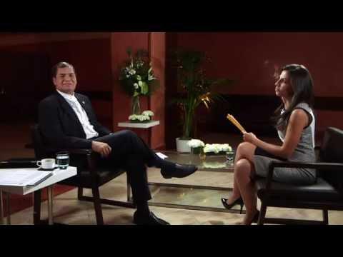 Detrás de cámaras: Rafael Correa y Ana Pastor
