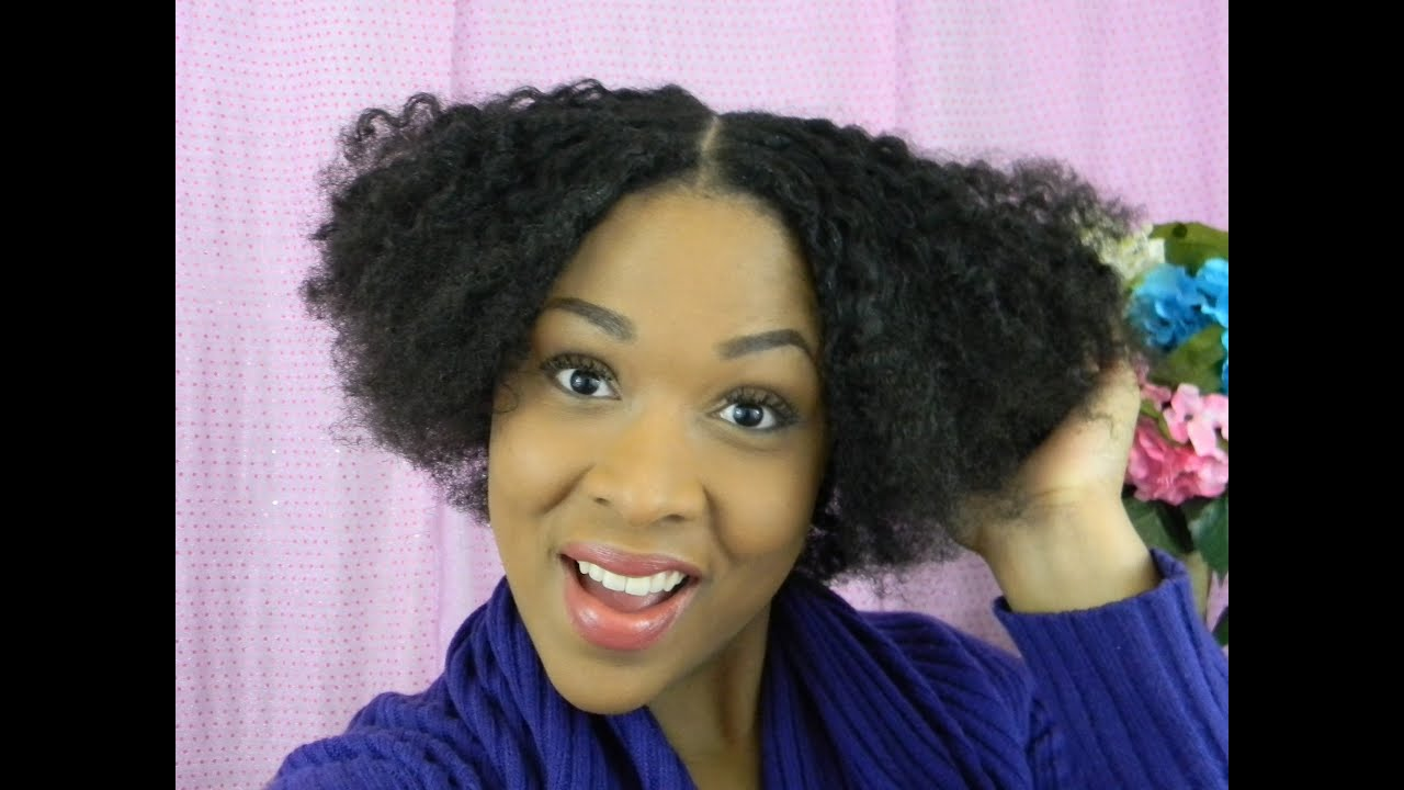 How To Wavy Bob On Natural Hair Braidout Natural