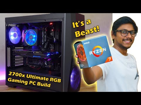 Ryzen 7 2700x Ultimate RGB Gaming PC Build 2018 !!