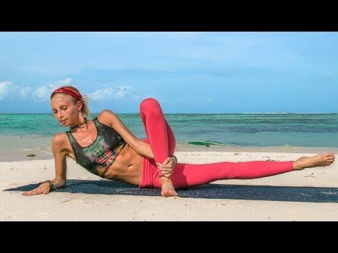 Best Leg Toning Workout ♥ 10 Minute Glutes & Thighs   Maldives