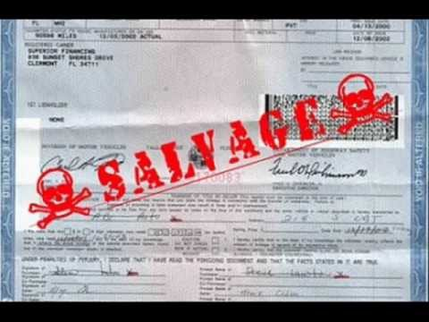 Can You Export A Car With Salvage Title