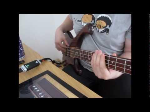 Acid jazz fingerstyle/slap bass groove (apogee jam, iPad)