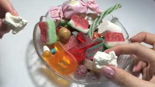 Eating candy ASMR / gummy, candy, chocolate / 젤리 먹기