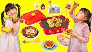 アンパンマンたこ焼きホットプレートでお料理ごっこキッチンおままごと - はねまりチャンネル