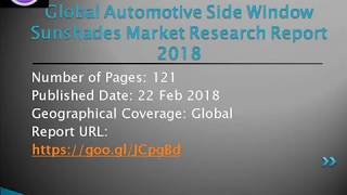 Automotive Side Window Sunshades Market Trends and Top Players Market Research Report 2018