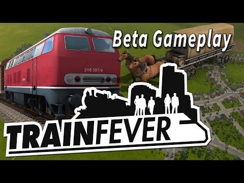 Train Fever Gameplay Preview 2/2 Transport Zug und Wirtschafts Aufbau Simulation BETA Gameplay