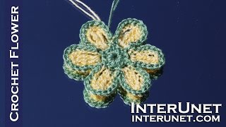 Crochet a four round flower