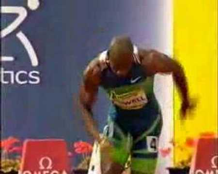 Asafa Powell World Record (9.77) angles