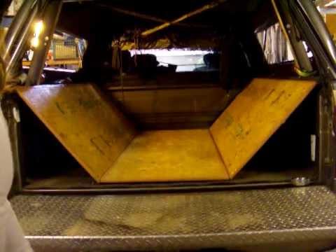 Simple Truck Bed Sleeping Platform