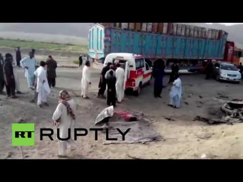 Pakistan: Body of Taliban leader Mansour removed from site of US drone strike